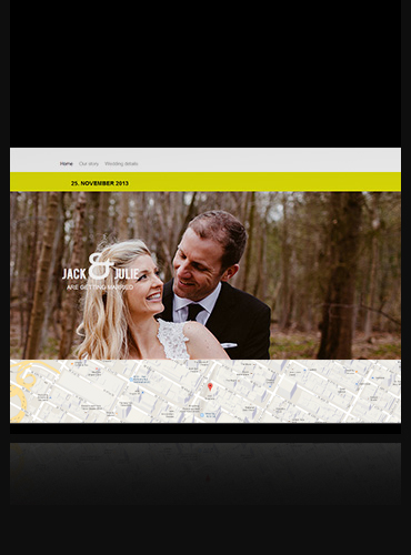 another wedding website template